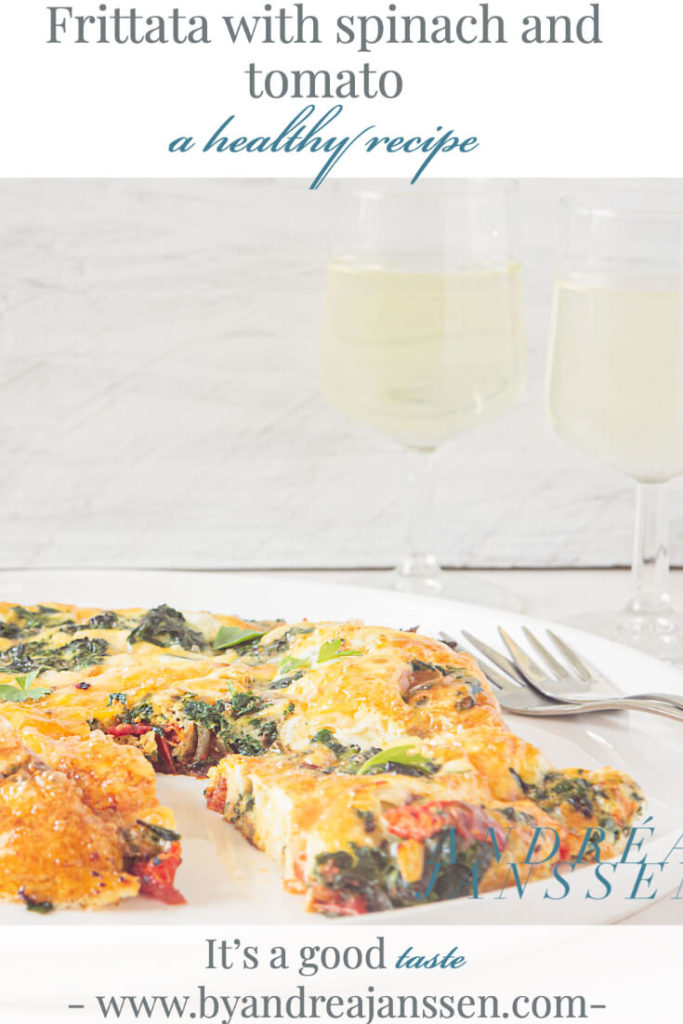 Frittata with spinach and tomato