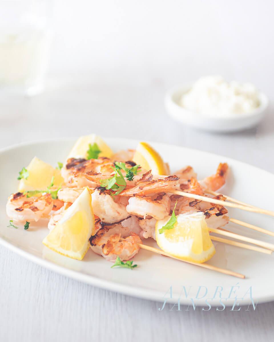 Shrimp with lemon