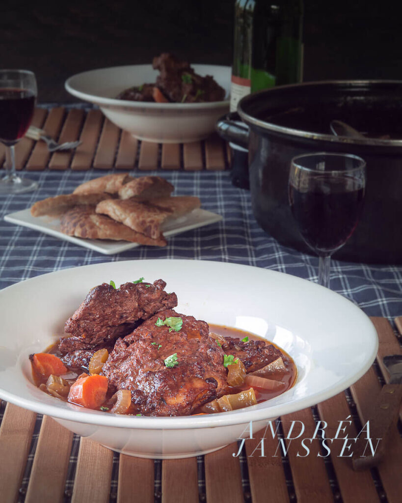 braised ribs in red wine