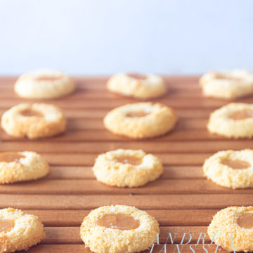 coconut cookies with caramel