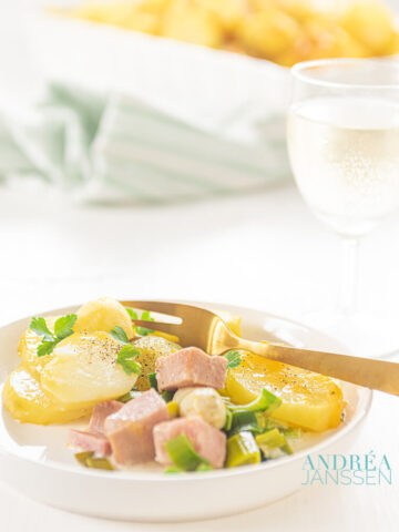 creamy asparagus potato casserole