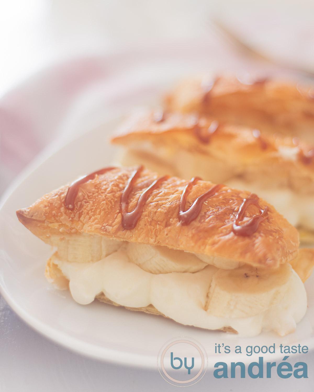 banana Napoleon with caramel