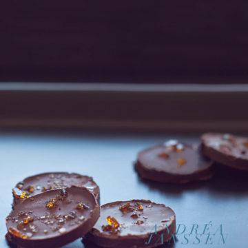 Chocolates with caramel and sea salt