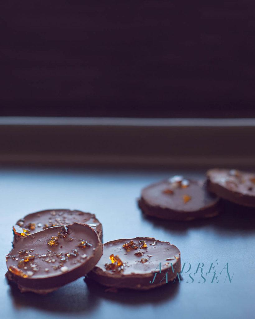 chocolaatjes met karamel zeezout