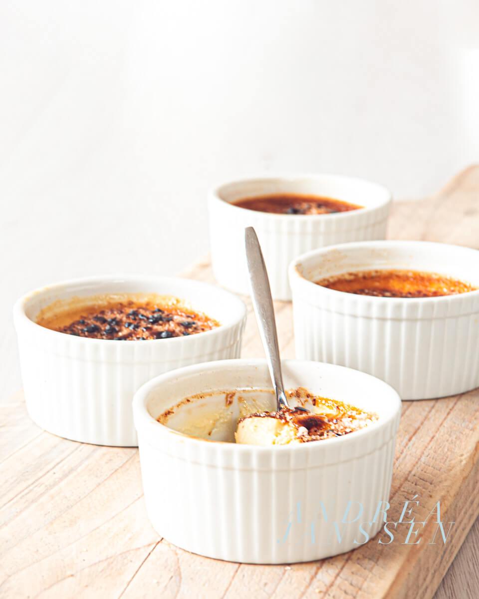 cinnamon honey crème brûlée