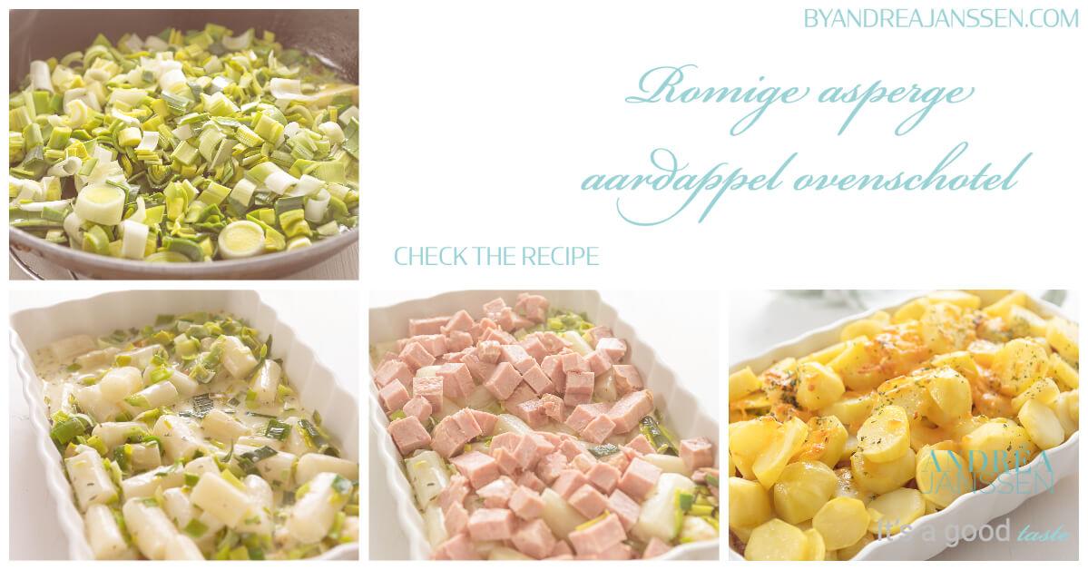 to do romige asperge aardappel ovenschotel