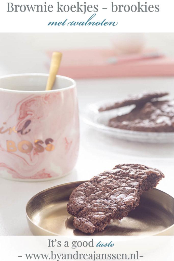 Brownie koekjes met walnoten - brookies
