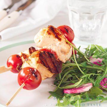chicken mozzarella kebab