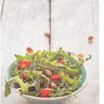 Strawberry, arugula and pistachio salad