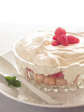 Frambozen trifle