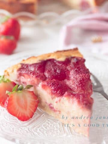 highlight strawberry ricotta cake