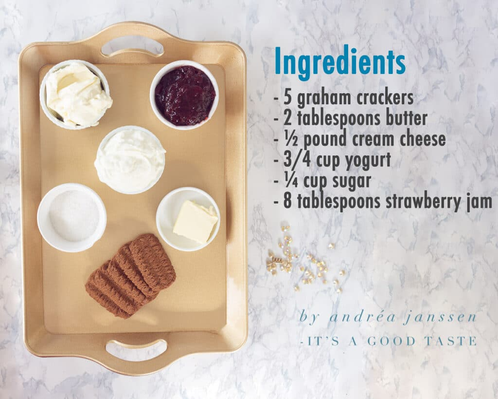 Ingredients No-bake cheesecake in a glass