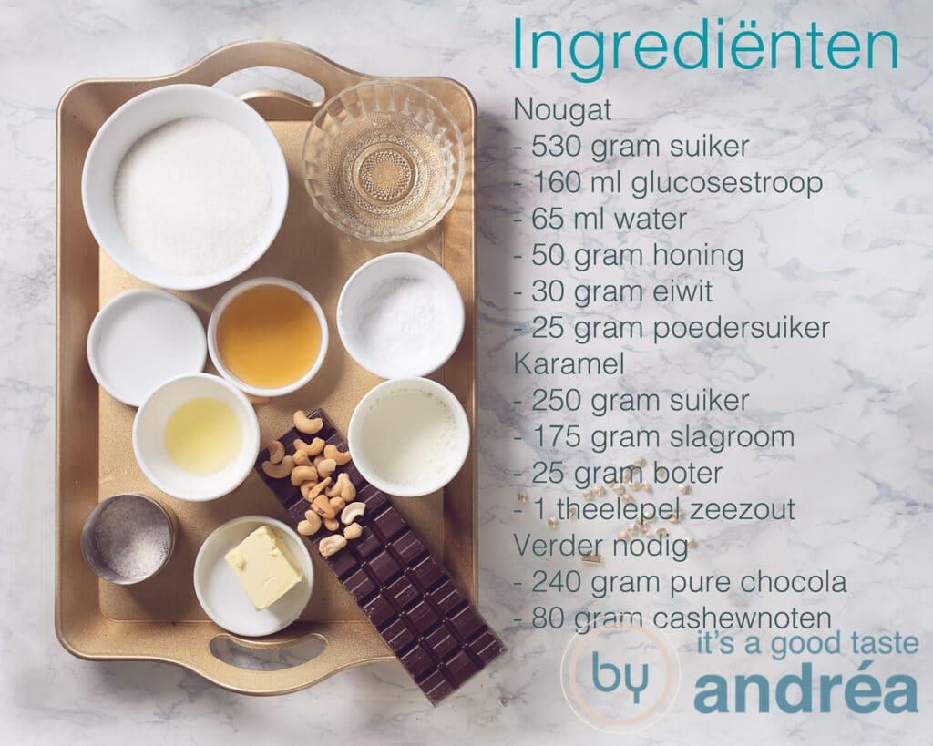 Ingrediënten voor Snickers
