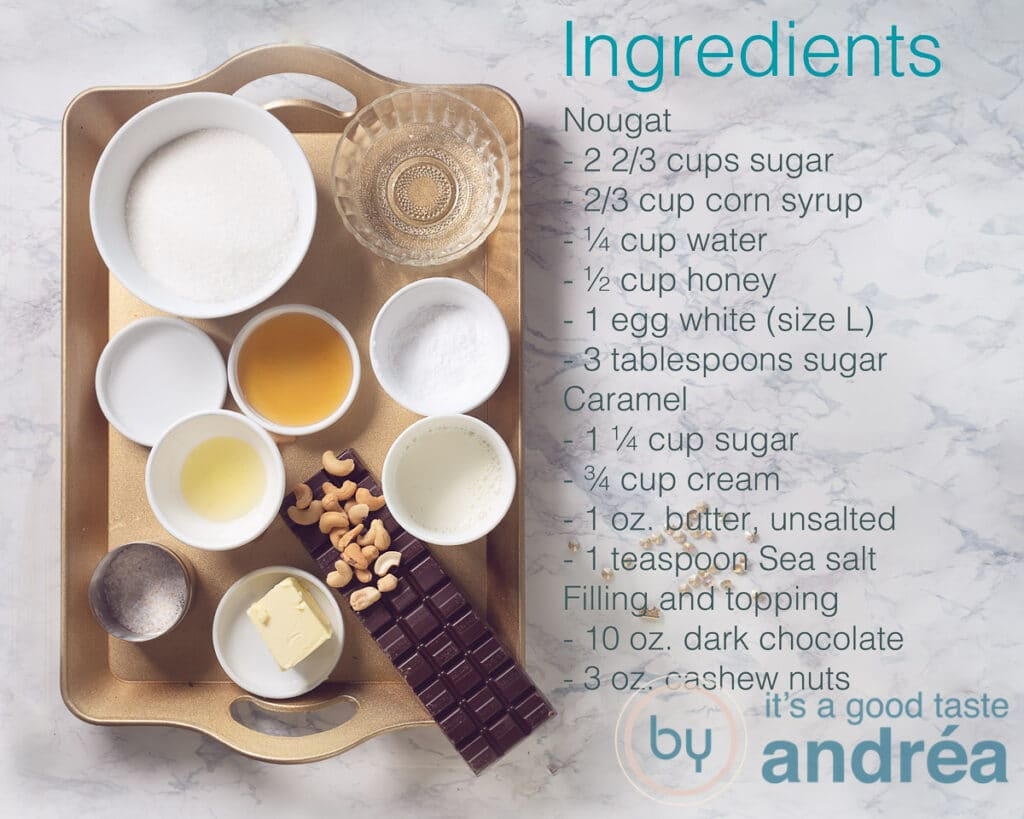 Ingredients snickers bars