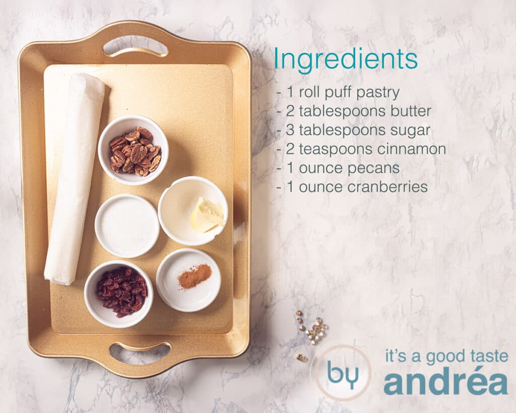 Ingredients Puff pastry cinnamon rolls recipe