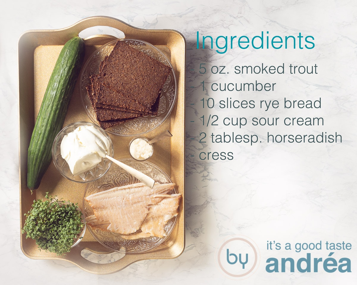 ingredients smoked trout cucumber appetizers