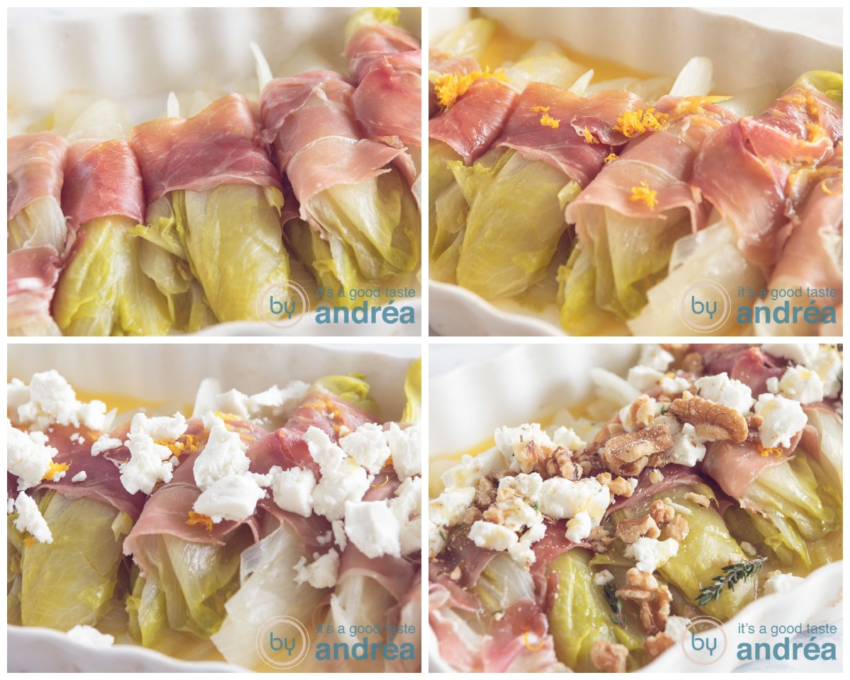 step-by-step how to prepare a chicory casserole