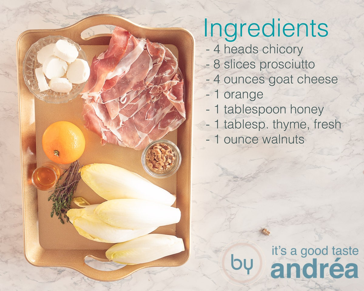 ingredients chicory goat cheese casserole