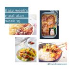 Four photos from the weekly meal plan week 19