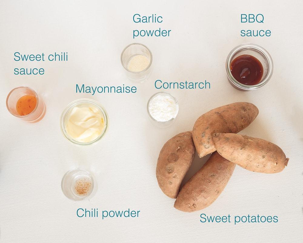Ingredients Air fryer sweet potatoes