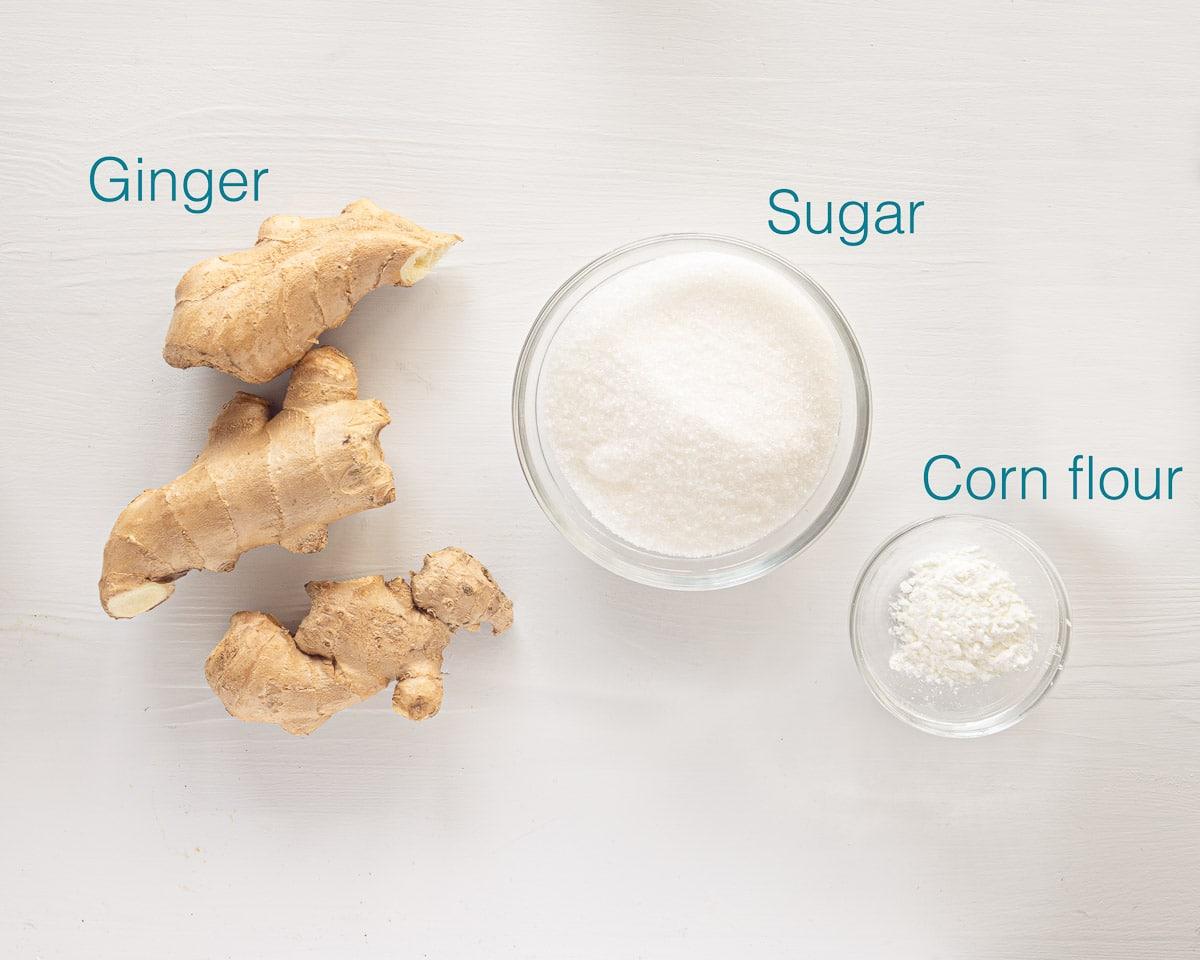 Ingredients ginger chews