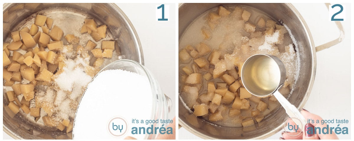 Add sugar and ginger juice to the pan