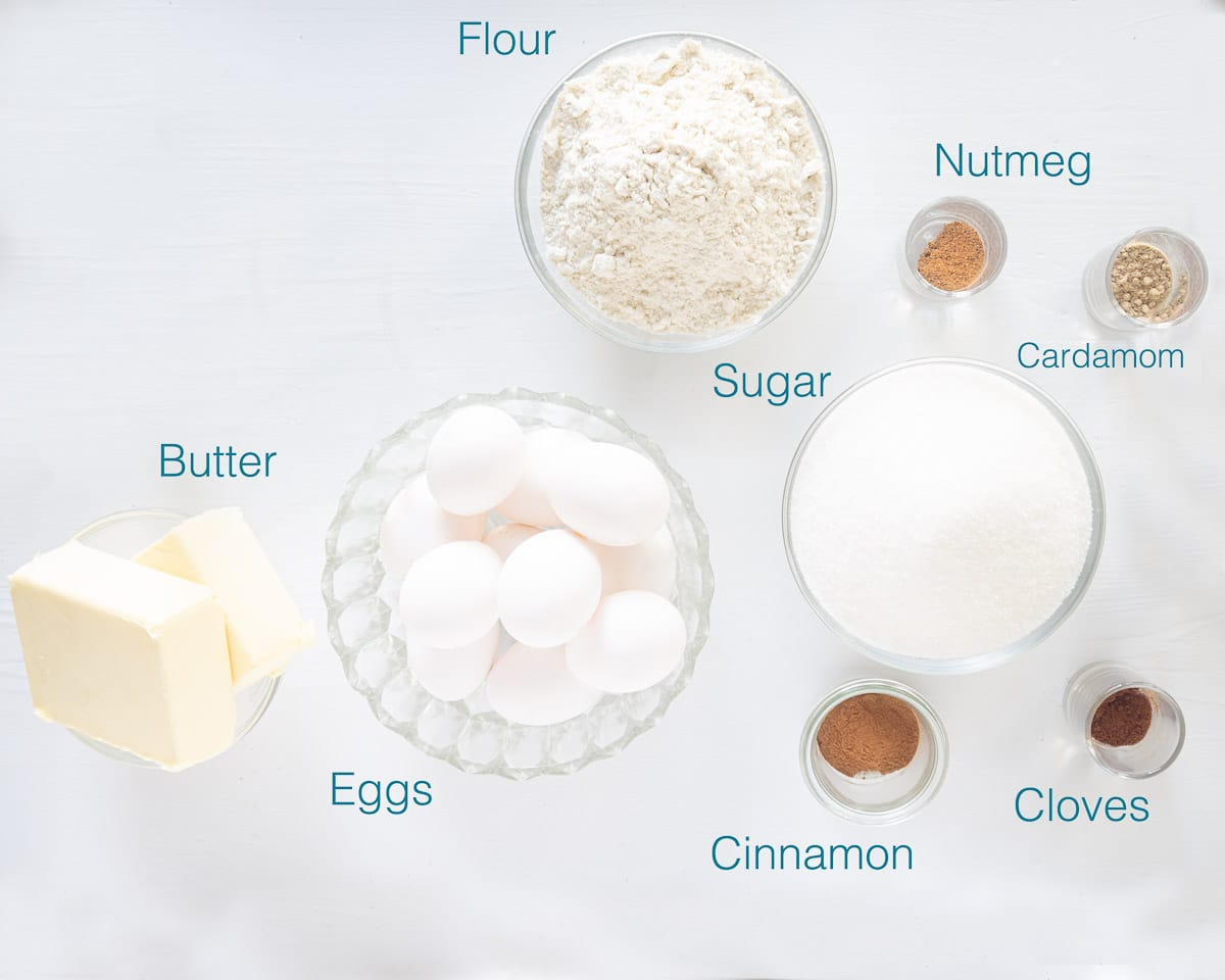 Ingredients thousand layers cake